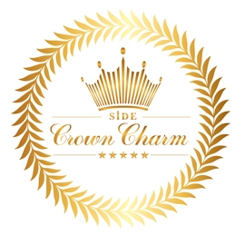 Logo Side Crown Charm